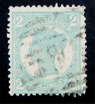 nystamps British Australian States Queensland Stamp # 122 Used $45