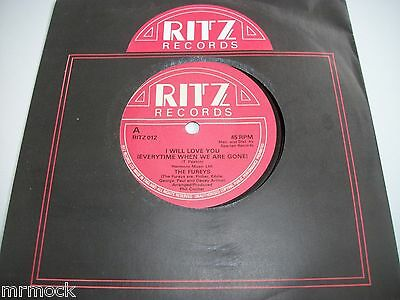 """THE FUREYS- I WILL LOVE YOU VINYL 7"""" 45RPM co"""