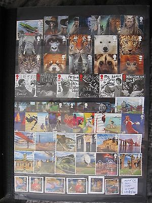 Gb Stamps. Most Of 2011 7 Sets . Used.