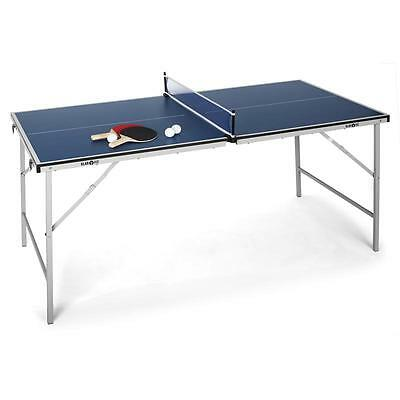 Mini Foldable Blue Ping Pong Table Tennis Table Small Easy Transport Home Office