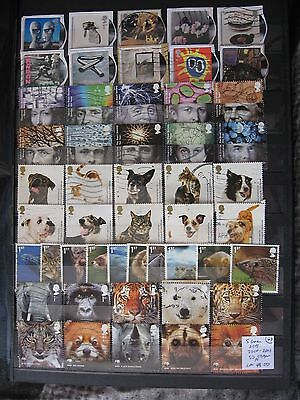 Gb Stamps.5 Greetings Sets. 2010-2011. Used.