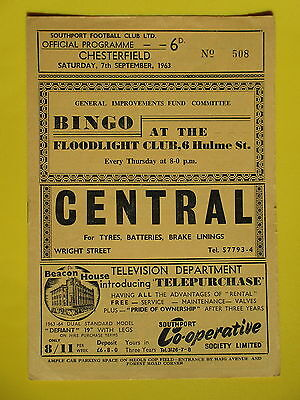 SOUTHPORT v CHESTERFIELD 63/64