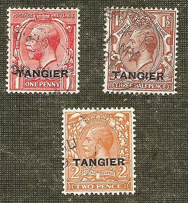 3 Stamps 1927 King George V O/p Tangier