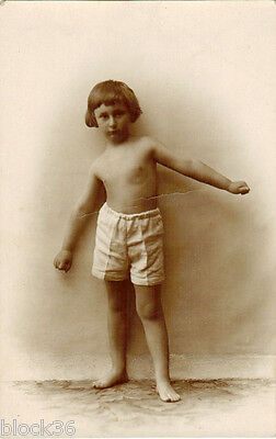 Vintage photo card BOY IN SWIMSUIT