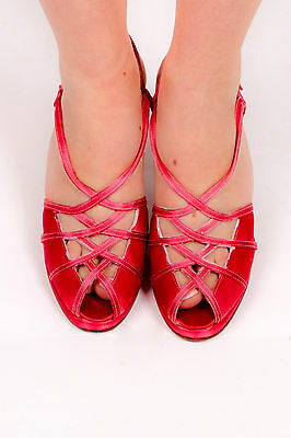 1940s vintage style pink satin Stuart Weitzman evening shoes