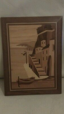 Vintage marquetry picture