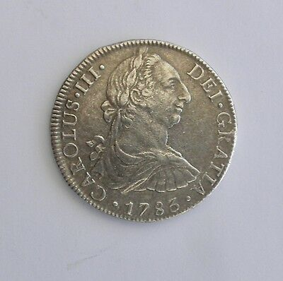 1783 Carolus III 8 Reales Silver Coin~~Real Nice