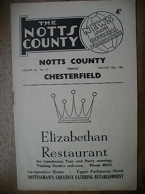 NOTTS COUNTY  v  Chesterfield  60/1.