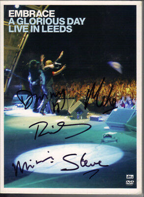 Embrace Indie Band Fully Hand Signed A Glorious Day Live In Leeds DVD