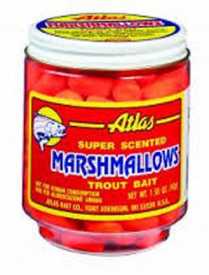 Atlas Mike's 30037 Chartreuse Cheese Mallows Trout Fishing Prepared Bait