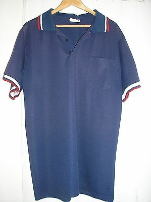 BASEBALL UMPIRE SHIRT Navy Blue FADING XL Teamwork Athletic Sold AS-IS