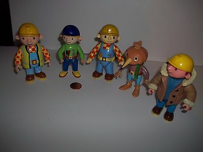 Bob The Builder Lot of 5 Figures,Wendy,Spud,Bob,See Others & Combine Postage