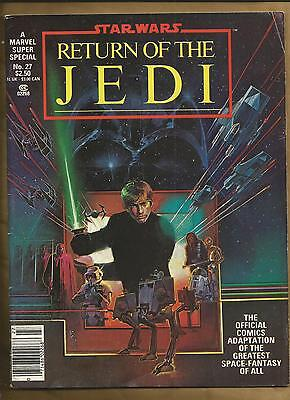 Return of the Jedi Star Wars movie mag FN- 1983 Marvel comics magazine scarce