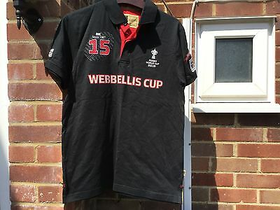 World Cup 2015 England Rugby Webb Ellis Collection Polo Shirt Size S/m Bnwts