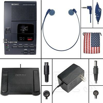 Sony M-2000 Micro Cassette Transcriber In Box - Factory Refurbished