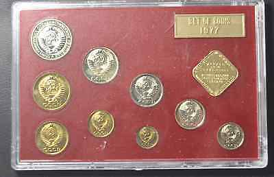 1977 Russian Mint Proof-Like Specimen Set Rare 10 Coin Set