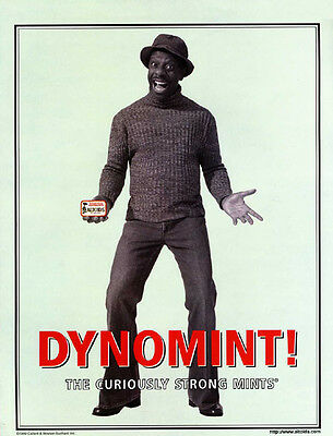 Jimmie Walker Good Times TV show Actor in Dynomint Altoids vintage print ad