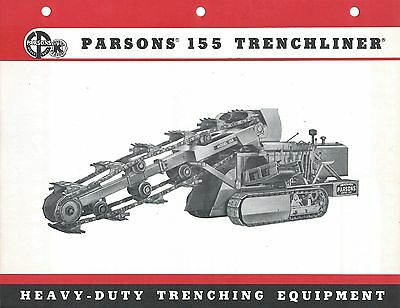 Equipment Brochure - Parsons - 155 Trenchliner - Trench Excavator c1957 (E3757)