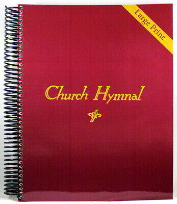 Church Hymnal LARGE PRINT Brand NEW Spiral Bound 410 Hymns Shape Note Format