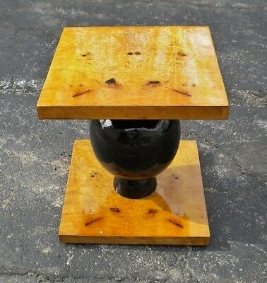 Most Elegant Art Deco style Elm Side Table