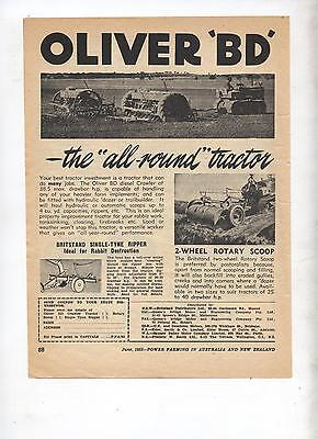 Oliver BD Crawler Tractor Advertisement removed from 1953 Farming Magazine