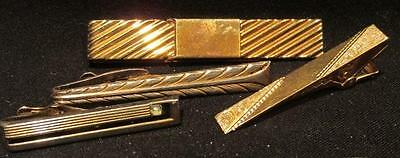 Swank Tie/Money Clip, Plus 3 Tie clips Incl Hickock Alligator clip Vintage Group