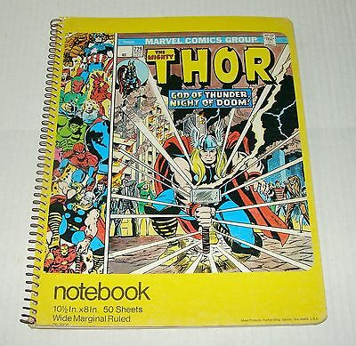Orig 1976 The Mighty Thor Spiral Ruled Mead Notebook - #229 Cover - Unused