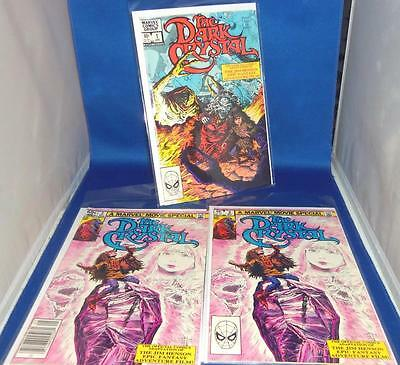 1983 Marvel The Dark Crystal Issue #1 & #2 Bagged Boarded Comic Book Lot of 3