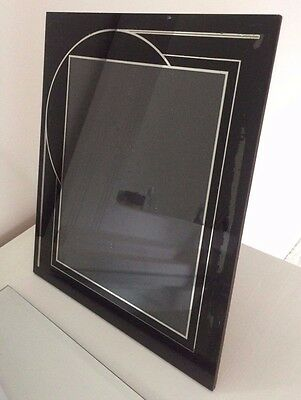 Vintage 1930's 40's ART DECO Picture Frame JAZZ AGE Reverse Painted Large 12x10