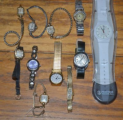 Lot of 11 Brand Name Watches Wittnauer Benrus Bulova Gruen Precision Le Gant