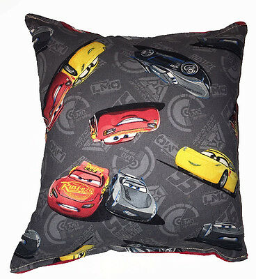 Cars 3 Movie Pillow McQueen and Storm Pillow Disney Cars 3  HANDMADE In USA