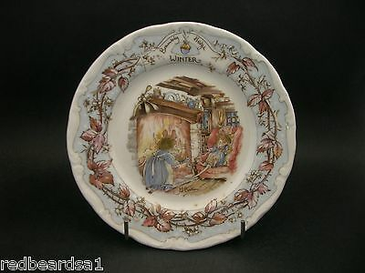 Royal Doulton Brambly Hedge Winter Season China Plate Boxed 16cms Jill Barklem