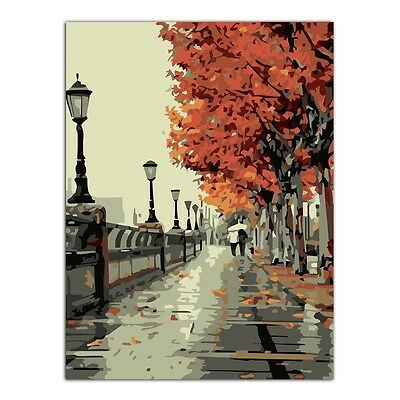 Stree Scene DIY Oil Painting Paint By Numbers Drawing On Canvas Home Decor