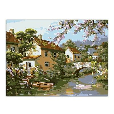 Cabin DIY Oil Painting Paint By Numbers Acrylic Drawing On Canvas Home Decor