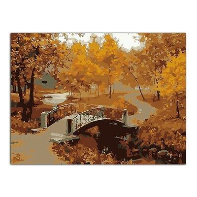 Bridge Tree DIY Oil Painting Paint By Numbers Drawing On Canvas Home Decor