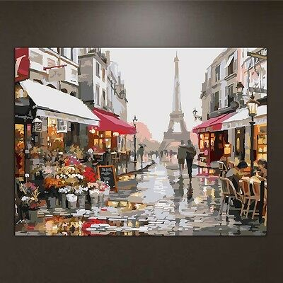 Bustling Streets DIY Oil Painting Paint By Numbers Drawing On Canvas Home Decor