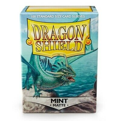 Dragon Shield 100 Standard Deck Protector Card Sleeves Matte Mint AT-11025