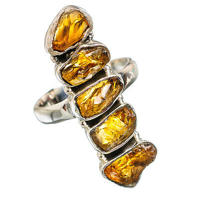 Citrine 925 Sterling Silver Ring Size 7.5 Ana Co Jewelry R843730