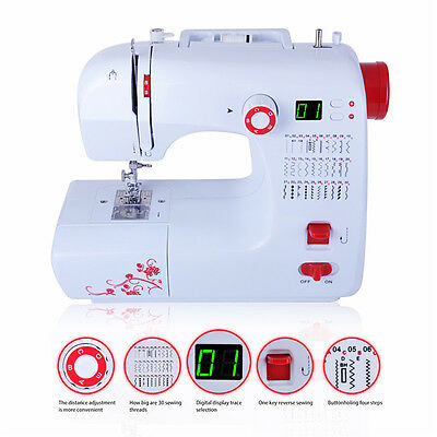 Portable 30 Stitches Household Electric Sewing Machine Digital Screen Display