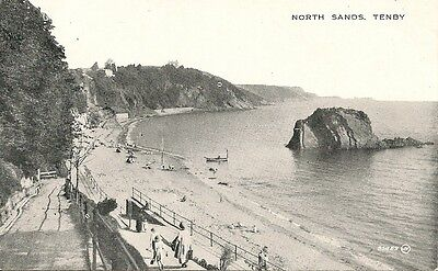 Old Postcard-TENBY-NORTH SANDS-Pembrokeshire-Wales-by Valentine's