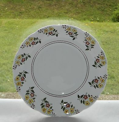 T Forester & Sons Phoenix Bone China Cake Plate c1940s Hand Coloured