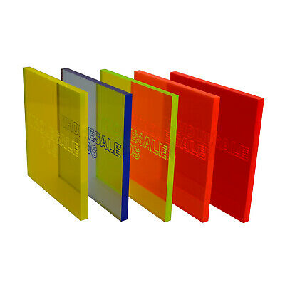 Perspex Acrylic Cast Fluorescent Coloured Sheet 5Mm Blue Orange Yellow Green Red