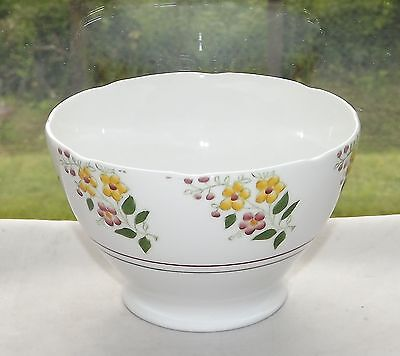 T Forester & Sons Phoenix Bone China Sugar Bowl c1940s Hand Coloured