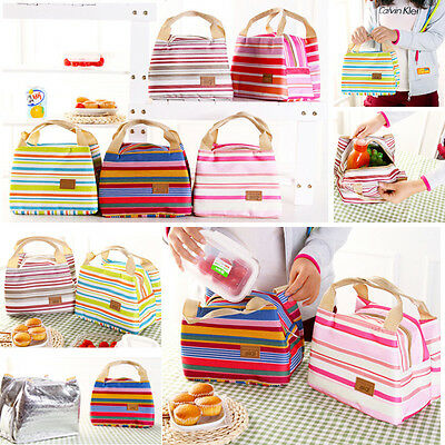 Portable Insulated Thermal Cooler Lunch Box Carry Tote Storage Bag Picnic