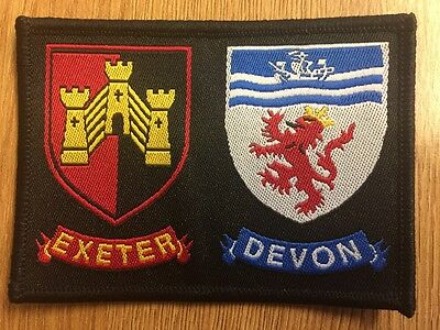 Exeter District / Devon  County double Scout cloth badge