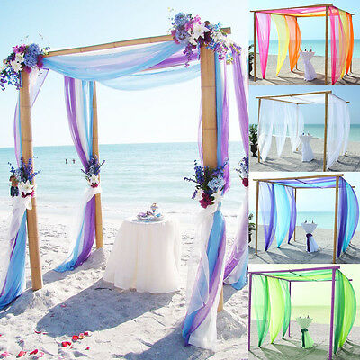 5M/10M *1.45M Top Table Swags Sheer Organza Fabric DIY Wedding Party Decoration