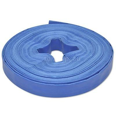 """25 m 1"""" PVC Flat Water Delivery Hose Discharge Pipe Pump Lay Flat Blue M3J2"""