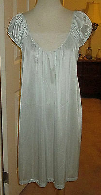 Vtg. Movie Star Blue Nylon Nightgown  Sz.l