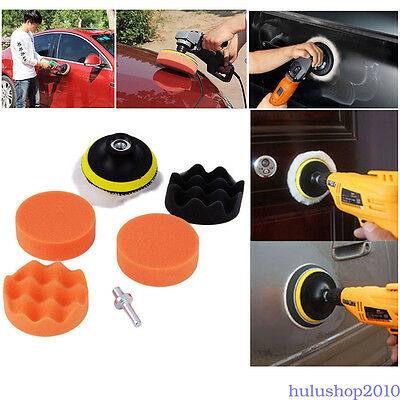 Car Polisher Gross Polishing Buffer Buffing Pad Kit Set Drill Adapter Tool
