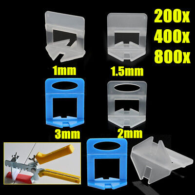 "800 Pcs Tile Leveling System Clip Wall Floor Spacer Tiling Tool 1/32"" 1/16"" 1/8"""